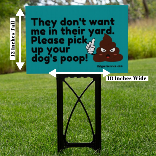 No Dog Poop Emoji Yard Sign