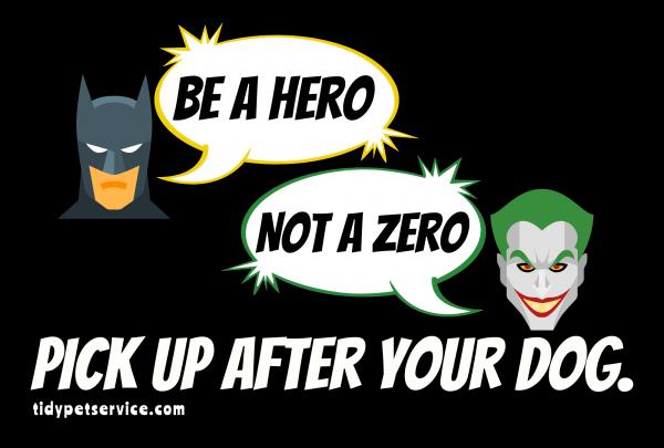 Batman and Joker No Dog Poop Yard Sign