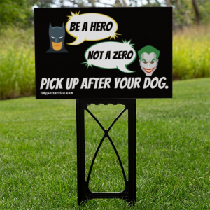 Batman and Joker No Dog Poop Yard Sign