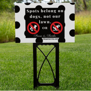 Dog Spots No Dog Poop Yard Sign