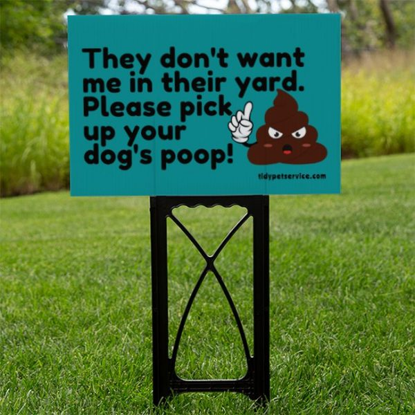 No Dog Poop Emoji Yard Sign