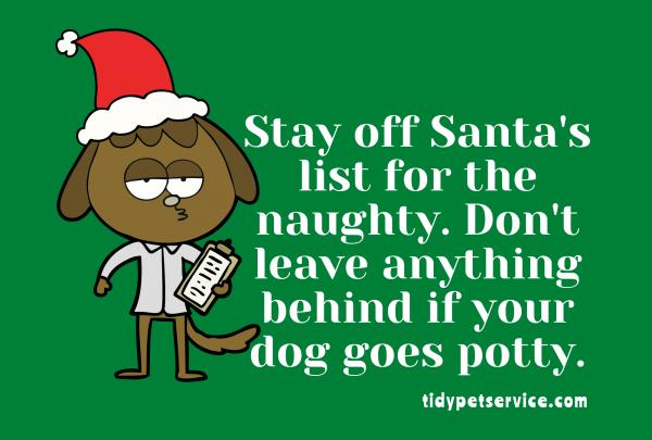 Santa's Naughty List No Dog Poop Yard Sign