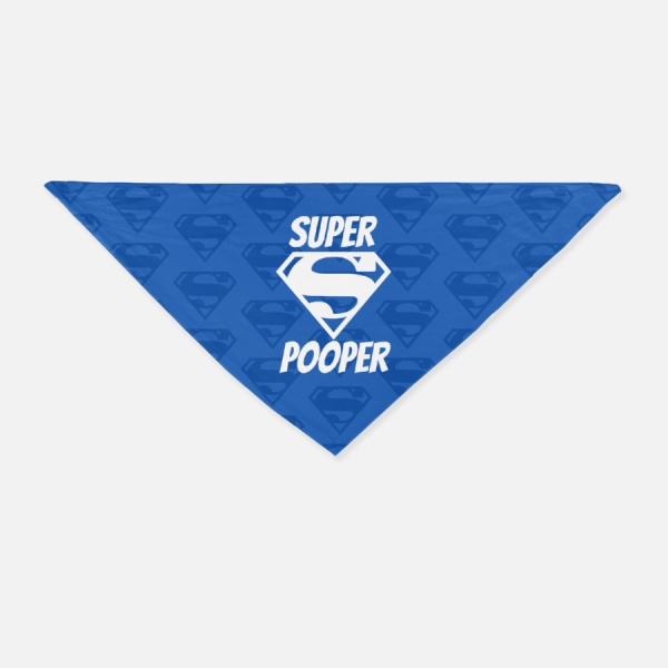 Super Pooper Bandana - Blue